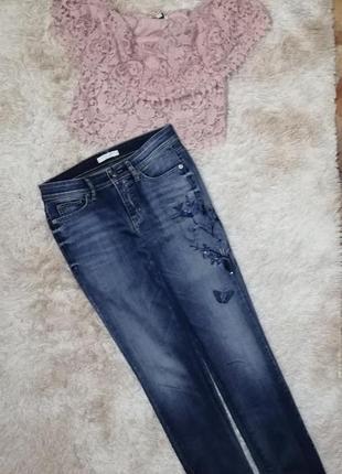 Стильный комплект костюм джинсы штаны брюки свитшот футболка кроп топ
