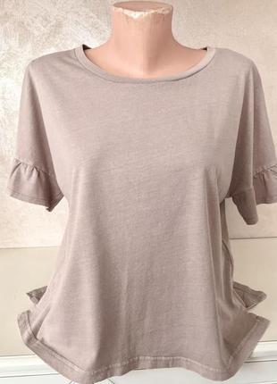 Брендовая котоновая футболка over size