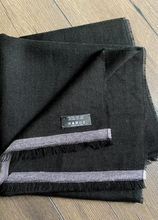 Шаль шарф шерсть, шёлк, лён