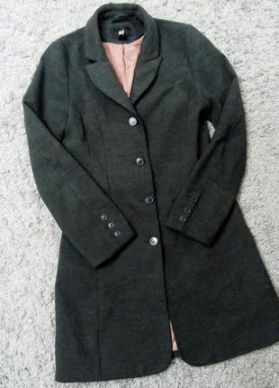 Пальто бойфренд теплое серое куртка бомпер пуховик