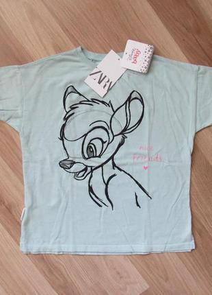 Детская футболка zara disney 4-5 лет, 110 см