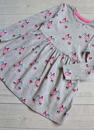 Платье с рукавами m&s 2-3 года