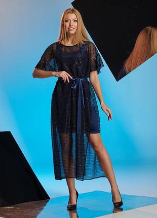 Шикарное нарядное женское платье