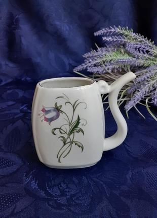Чашка с носиком сон трава ссср советская фарфоровая бюветница городница кружка для минеральной воды