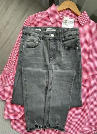 Новые джинсы скини высокая посадка
