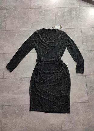 Платье тренд люрекс вечернее нарядное
