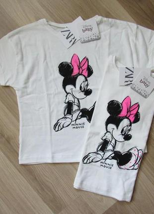 Детская футболка zara disney 104 см и110 см