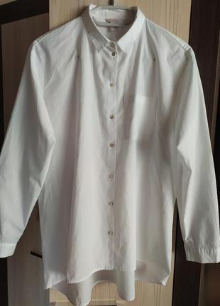 Esprit  удлиненная белая рубашка  м - l