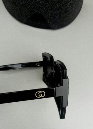 Gucci очки женские солнцезащитные большие модные черные8 фото