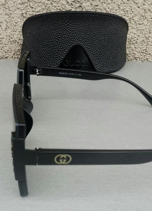 Gucci очки женские солнцезащитные большие модные черные4 фото