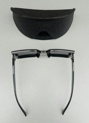 Gucci очки женские солнцезащитные большие модные черные5 фото