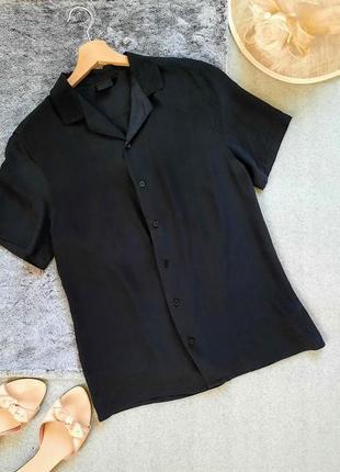 Шелковая базовая блуза рубашка
