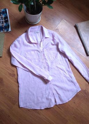 Рубашка colin's.лен 55% котон 45%