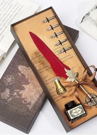Подарочный сувенирный набор для калиграфии винтажный стиль