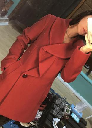Шикарное красное пальто ellen tracy америка