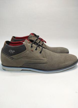 Туфлі замшеві s.olver сірі чоловічі нові класика полукласика шнурівки