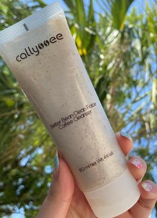 Кофейное средство для умывания лица callyssee со скрабирующим эффектом