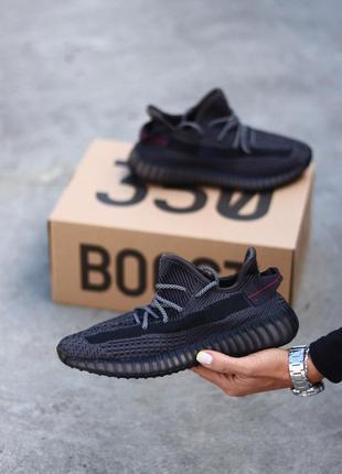 Кроссовки адидас yeezy boost 350 black reflective