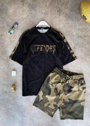 Стильный костюм комплект шорты футболка