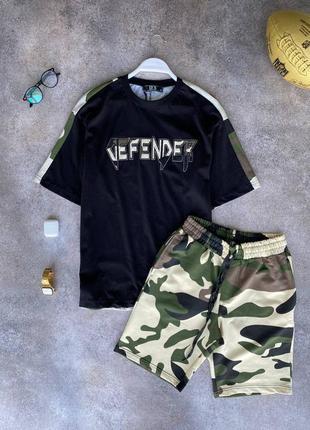 Стильный костюм комплект футболка шорты