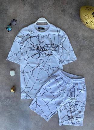 Стильный спортивный костюм шорты футболка