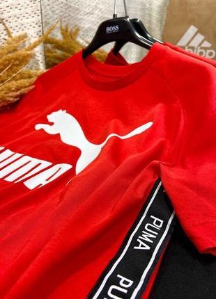Крутая оверсайзная футболка с лампасами от puma, оригинал💔