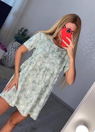 Новое женское стильное летнее лёгкое мягкое платье