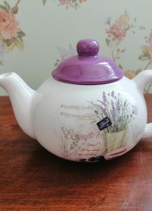 Заварник чайник 700 мл banquet lavender чехия