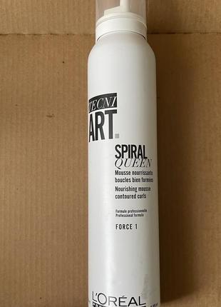 L'oréal tecni art.spiral queen увлажняющий мусс для моделирования локонов