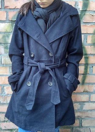 Классическое пальто h&m с капюшоном