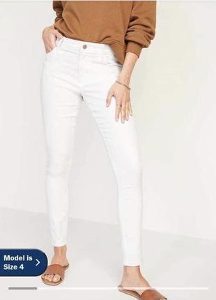 🔥🔥🔥джинси білі стрейч old navy super skinny,джинсы белые old navy