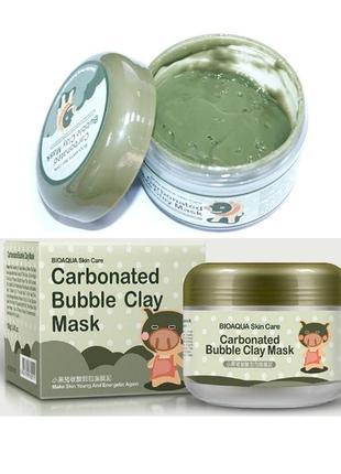 100 г кислородная маска bioaqua skin care carbonated bubble clay mask probeauty