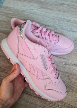 Кроссовки reebok classic leather pastel bs8972 charming pink/white оригинал кросівки