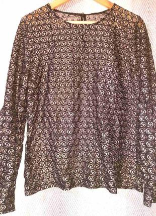Женская кружевная черная вечерняя блузка.  гипюровая, ажурная блуза бренда daya.