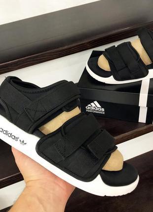 Мужские сандалии adidas adilette sandals черно-белые