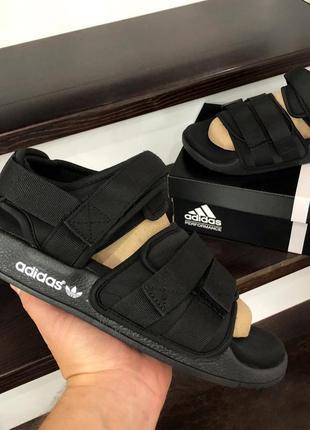 Мужские сандалии adidas adilette sandals летние черные