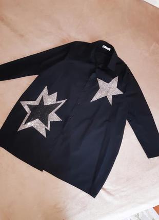 Красивое платье свободного кроя оверсайз (m-l) звёзды
