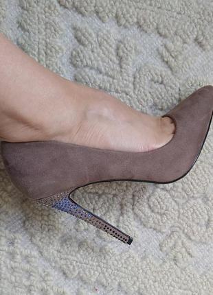 Туфлі жіночі лодочки туфли замша