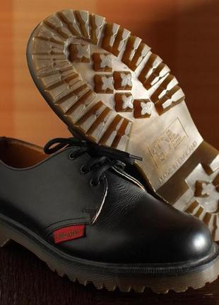 Броги dr. martens made in england (41) кожаные туфли ботинки полуботинки мартинсы