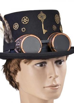 Шляпа-цилиндр для вечеринки в стиле стимпанк