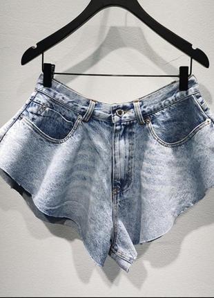 Крутые джинсовые шорты юбка alexander wang