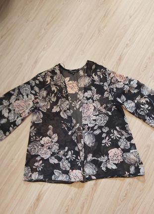 Накидка-кимоно в цветочный принт,new look