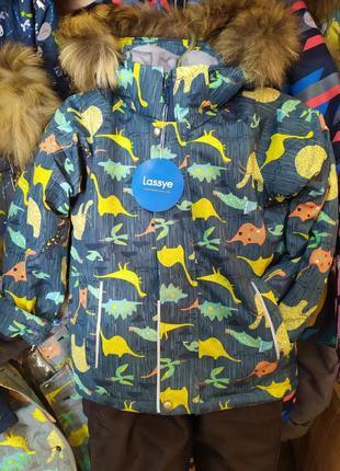Новинка! зимний мембранный термо костюм lassye для мальчика динозаврики