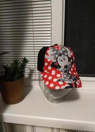 Кепка с минни маус,кепка на девочку с мики маусом,бейсболка disney