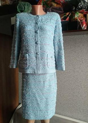 Шикарный винтажный костюм в стиле шанель