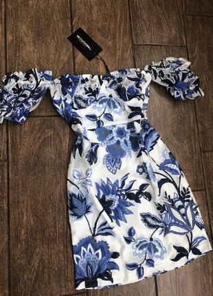 Новое летнее платье с бирками легкое брендовое prettylittlething