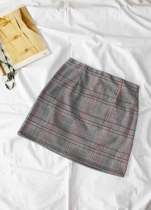Облегающая юбка в гусиную лапку new look