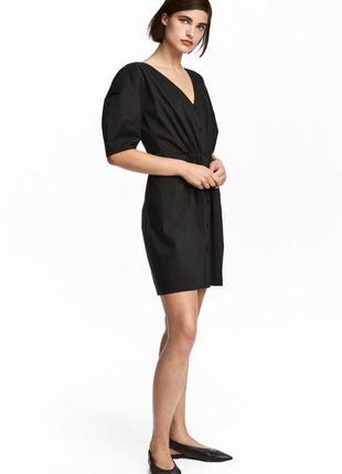 Хлопковое платье h&m с рукавами буффами, сукня з широкими рукавами