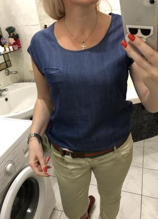 Джинсова блузка , punto lyocell , лиоцел
