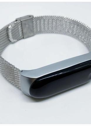 Ремешок mi band 3 металлический серебро миланская петля ❤️